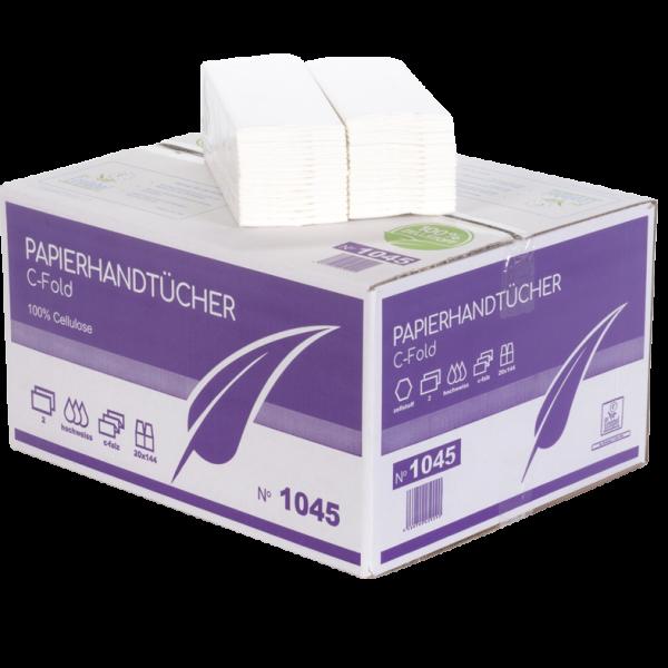 Papierhandtücher 2 lagig C Falz Zellstoff 25 x 30 cm - MUSTER