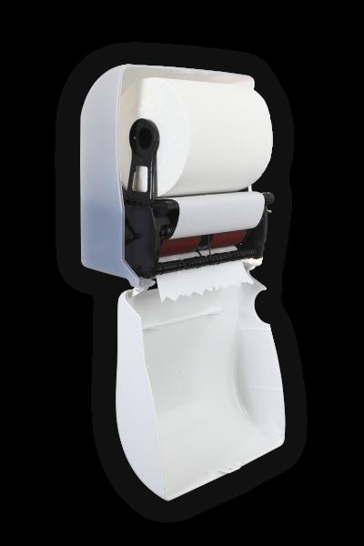 Autocutspender für Handtuchrollen Weiß