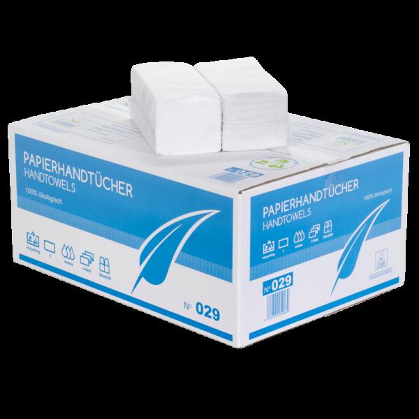 Handtuchpapier 1 lagig weiß ZZ Faltung 24x21 cm Karton