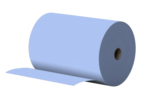 Putzpapier 3 lagig BLAU 100% Zellstoff 35,5x36cm 1000 Abr. PREMIUM - 35 Rollen