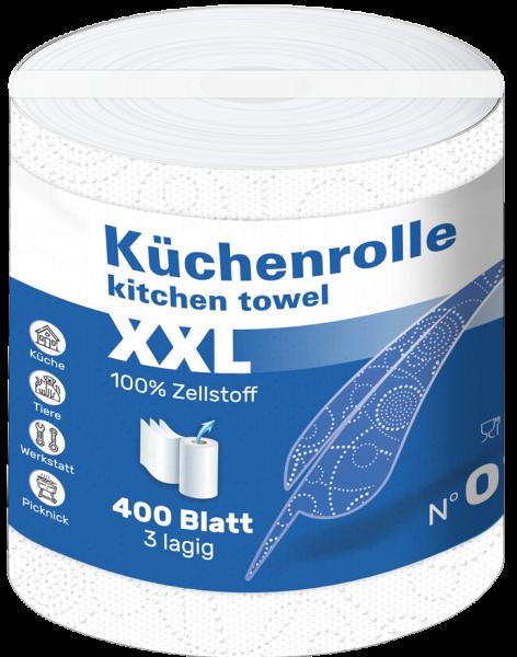 18 Küchenrollen XXL 3 lagig Zellstoff 400 Blatt Karton