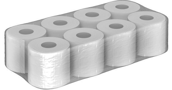 Toilettenpapier 3 lagig 100% recycling 200 Blatt 8er 2112 Rollen / PALETTE