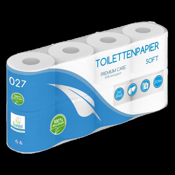 Toilettenpapier 3 lagig 100% Zellstoff SOFT - 250 Blatt MUSTER