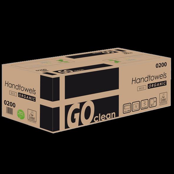 Papierhandtücher 1 lagig recycling Havanna Interfold 24 x 21 cm GO CLEAN Muster