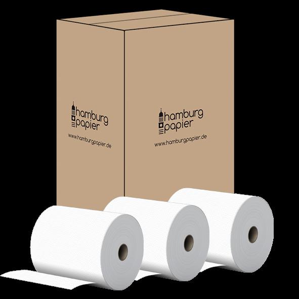 24 Handtuchrollen 2 lagig Zellstoff 130m 20cm Breite 4cm Hülse Karton