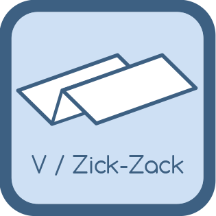 zick-zack-V-faltung