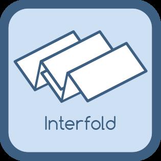 Interfold Faltung Papierhandtücher