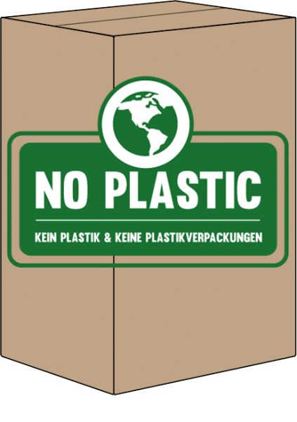 Toilettenpapier 2 lagig recycling ohne Plastik Verpackung 620 Blatt - 90 Rollen im Karton