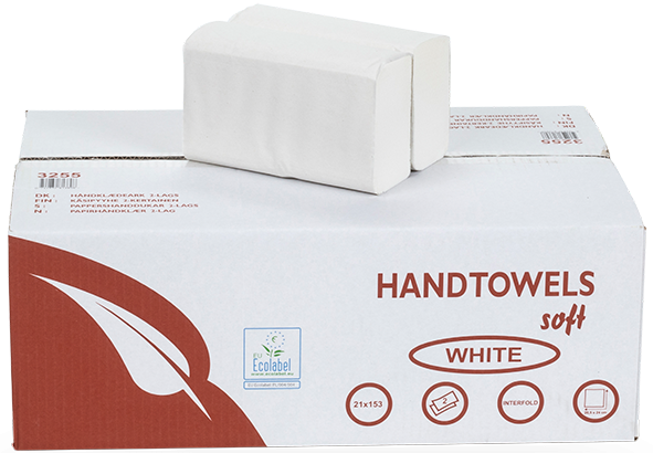 Papierhandtücher 2 lagig Zellstoff INTERFOLD 24 x 21 cm Karton