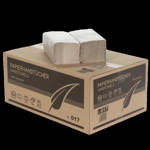 Papierhandtücher 1 lagig GRAU ZZ Faltung 25x23 cm Karton