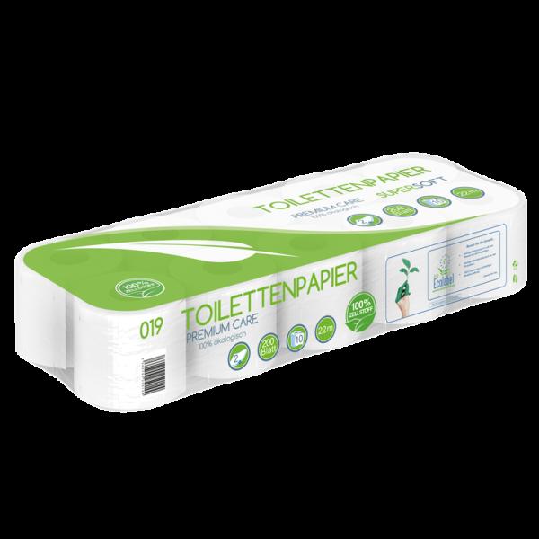 Toilettenpapier 2 lagig 100% Zellstoff 200 Blatt MUSTER