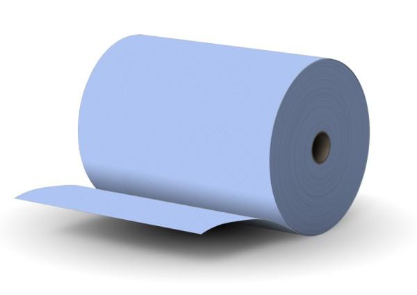 Putzpapier 2 lagig BLAU 100% Zellstoff 35,5x36cm PREMIUM - MUSTER