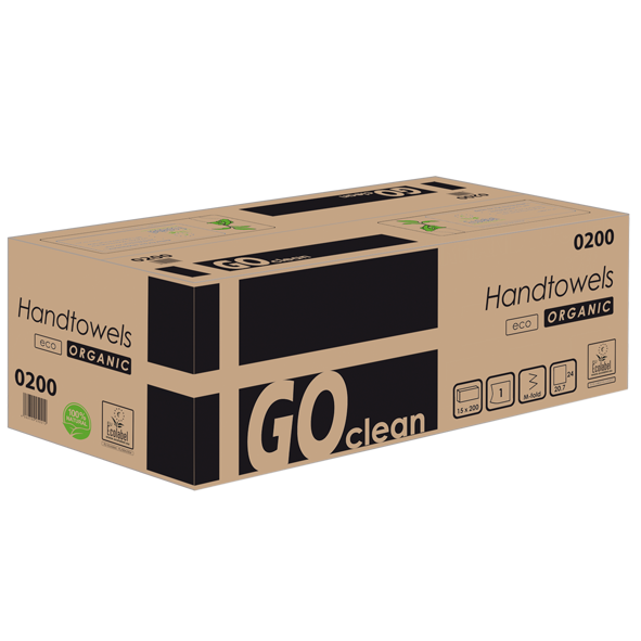 Papierhandtücher 1 lagig recycling Havanna Interfold 24 x 21 cm GO CLEAN Palette
