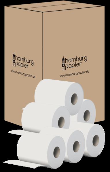 24 Handtuchrollen 1 lagig weiß 275m Breite 19cm Innenauszug + Außenabw. Karton