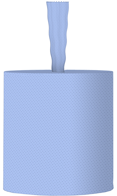 Handtuchrolle 2 lagig blau Zellst. 143m 600 Abrisse Innenauszug / ohne Hülse MUSTER