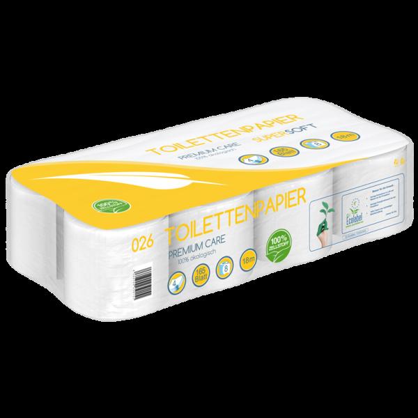 Toilettenpapier 4 lagig 100% Zellstoff Super Soft - 165 Blatt - MUSTER