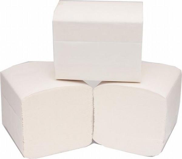 Toilettenpapier Einzelblatt 2 lagig 100% Zellstoff 9000 Blatt - PALETTE