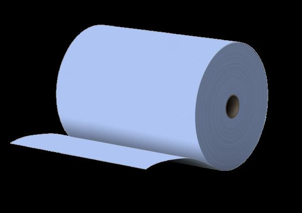 Putzpapier 2 lagig BLAU recycling 34x34cm 1000 Abrisse pro Rolle PALETTE