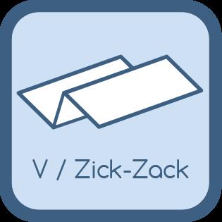 Papierhandtücher Premium Zick Zack V Faltung
