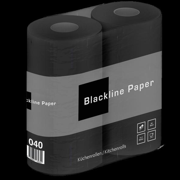 Küchenrollen schwarz Zellstoff 3 lagig 64 Blatt 2er Pack Palette