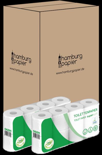 Toilettenpapier 2 lagig weiß recycl. 250 Blatt 8er 128 Rollen Karton